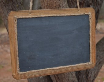 Large Hanging Rustic Chalkboard Sign - 7x10 Chalkboard - Chalkboard Photo Prop - MR. and MRS. - Hanging Chalkboard
