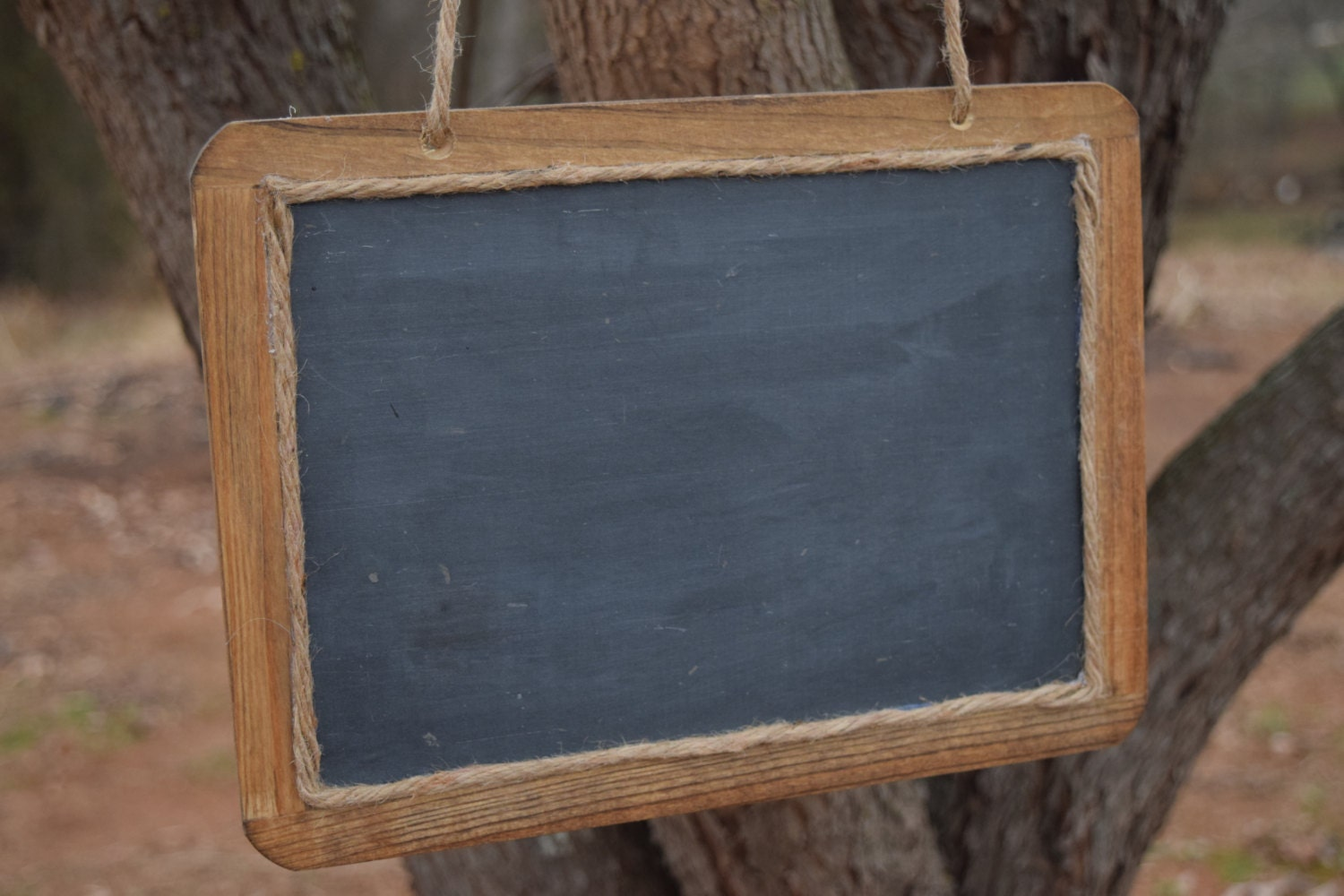 Large Hanging Rustic Chalkboard Sign 7x10 Chalkboard