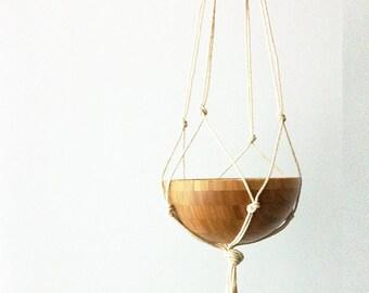 Outdoor / Indoor Macrame Planter Hanger - Minimal Design