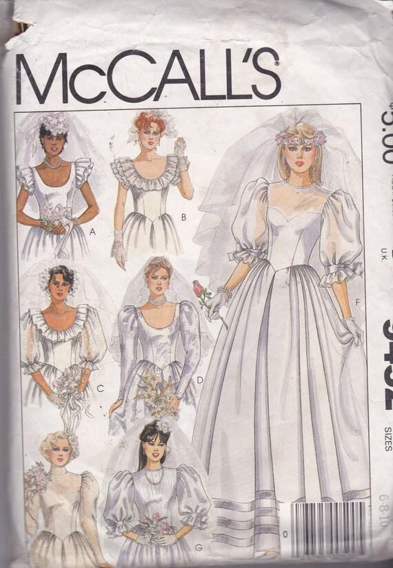 McCalls 9452 Vintage Pattern Wedding Dress With 6 Bodice