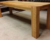 Classic White Oak bench...
