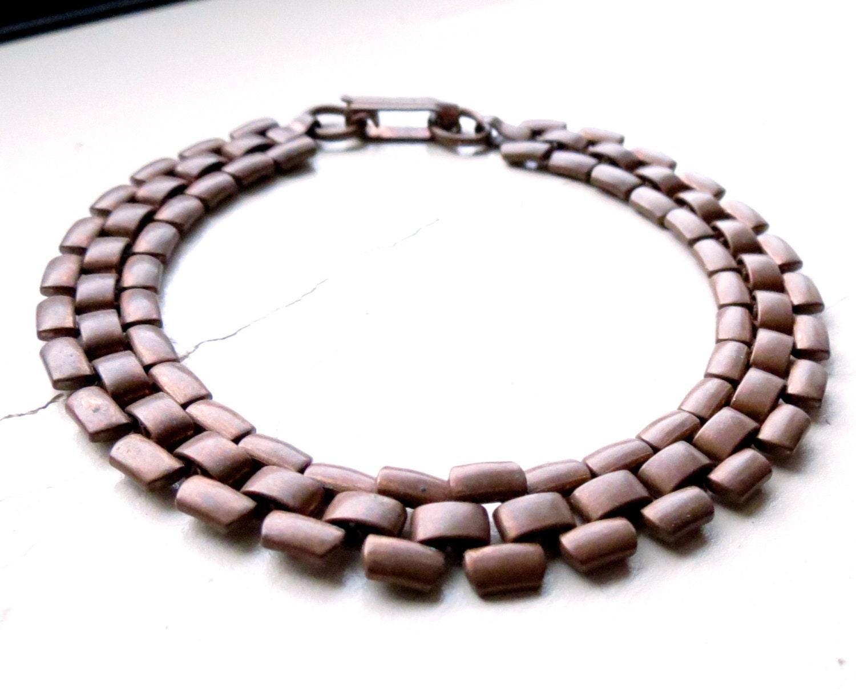 copper link bracelet solid copper bracelet stacking bracelet