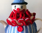 Happy Clown Tea Cozy. Fits 4 cup Teapot