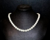 Graduated White Pearl Necklace