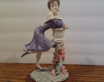 Polyresin Glamour Lady Sculpture