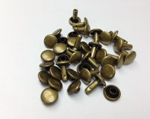 High quality DOUBLE SIDED 9MM antique brass rivet and studs Metal Studs (500 pieces!)  Studs for bag and purse, shoes, belts