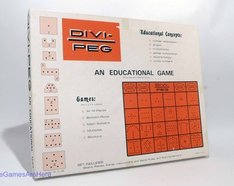 Divi-Peg Educational Math Game 1974 COMPLETE