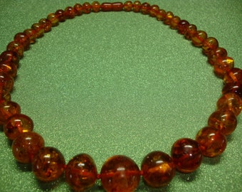 Russian Amber Baltic Necklace  Reduced