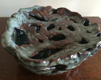 Abstract ceramic pottery in earth color