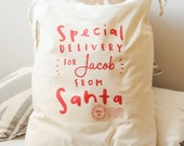 Santa Sack - Personalised Santa Gift Sack - Personalised Heirloom Santa Sack - Christmas Sack