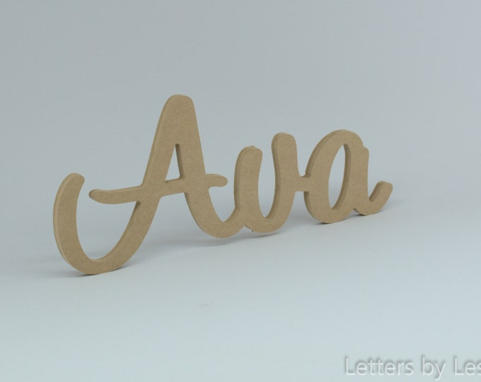 DIY Unpainted Personalized Baby Wall Names. Nursery wall Decor. Personalized Signs and Letters Unpainted wood