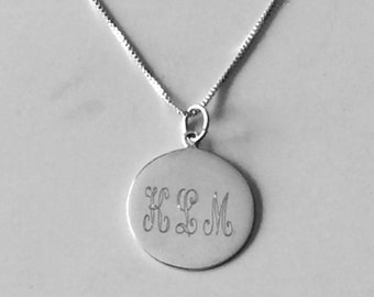 Personalized Custom Sterling Silver Necklace Custom Engraved Sterling Silver Necklace-Christmas Gifts