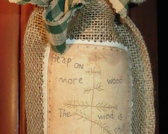 Primitive Burlap Bottle Night Light Bath D Cor Gifts