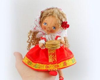 LittleDoll Russian Girl, Cloth Doll, art doll,handmade.