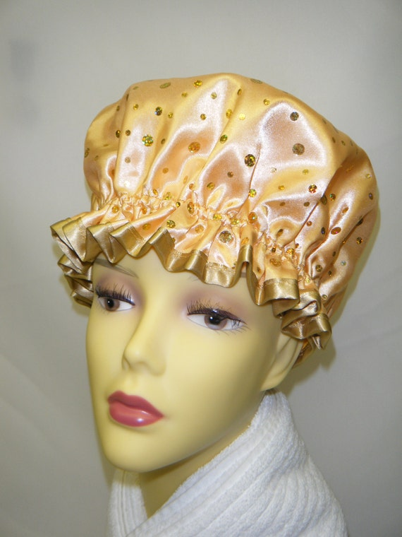 Gold Sequined Shower Cap