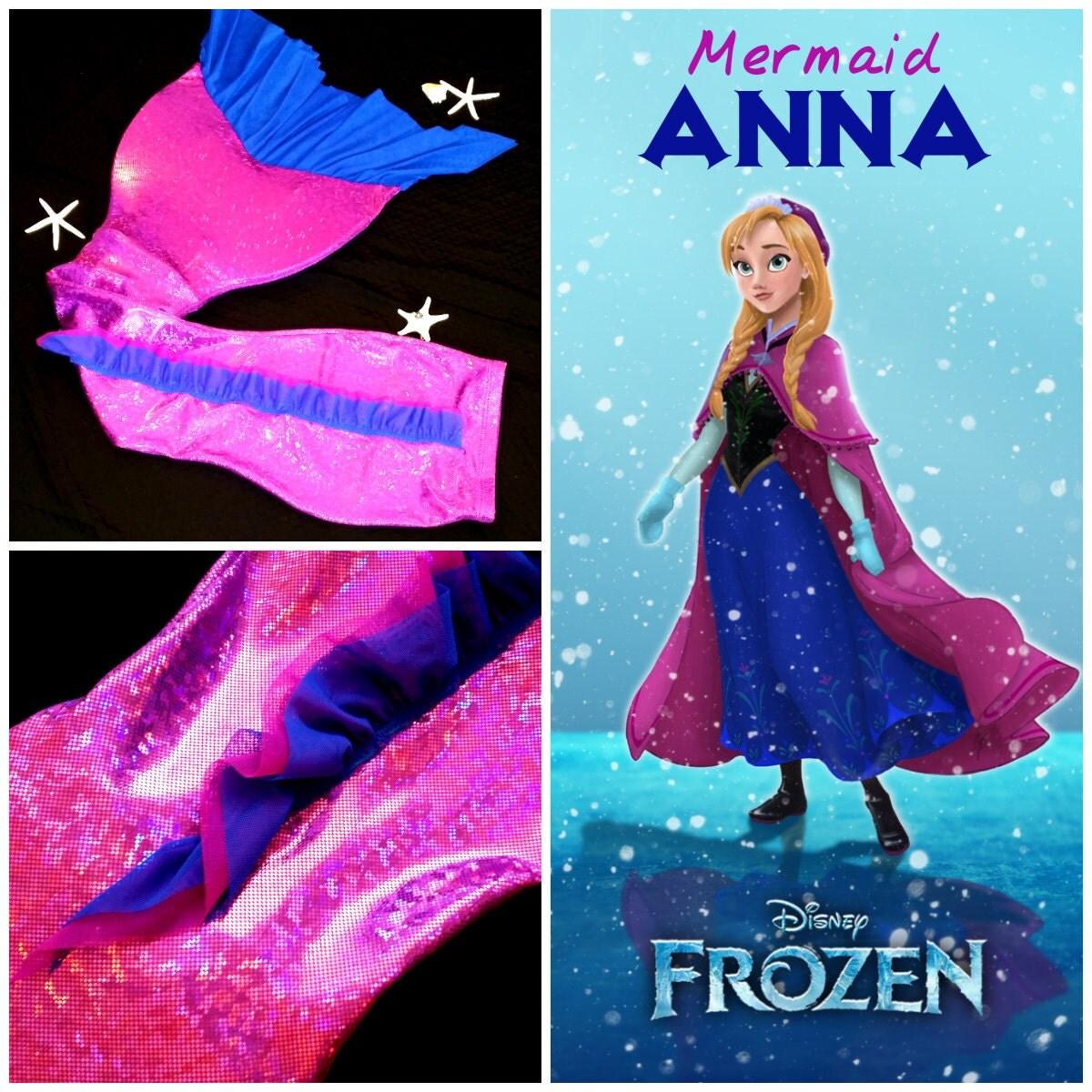 Mermaid ANNA Inspire By Frozen Swimmable Mermaid