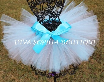 Light Blue and Gray Tutu for Newborn - Infants - Toddlers