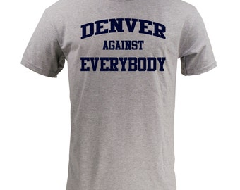 Denver Against Everybody - Navy on Sport Grey