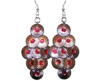 Gem Embellished Medallion Earrings