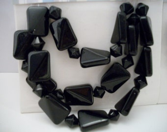 Black Glass Beads Jewelry Making Supplies Crafts Crafting