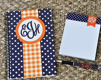 Monogrammed Personalized Polka Dot Notepad