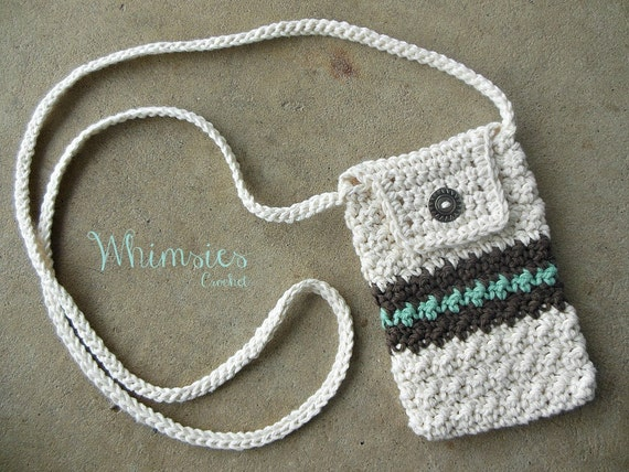 Crochet Cell Phone Purse : Crochet purse, cross body bag, cell phone purse, shoulder purse, Epi ...