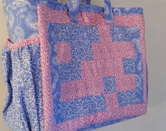 Geometric print Diaper Bag