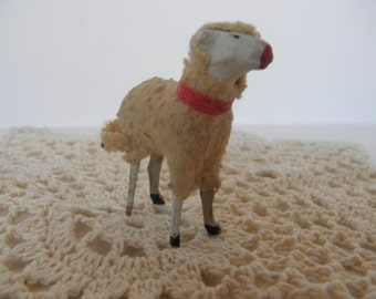 Germany Wooly Sheep with Wood Legs
