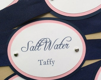 Navy & Pink Candy Tags
