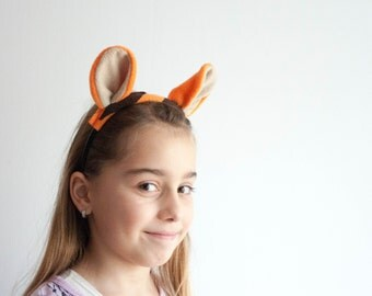 Tiger Ears Headband, Animal Ears Head Band, Children's or Adult's Photo Prop, Cosplay, Pretend Play, Tigger Winnie–the–Pooh