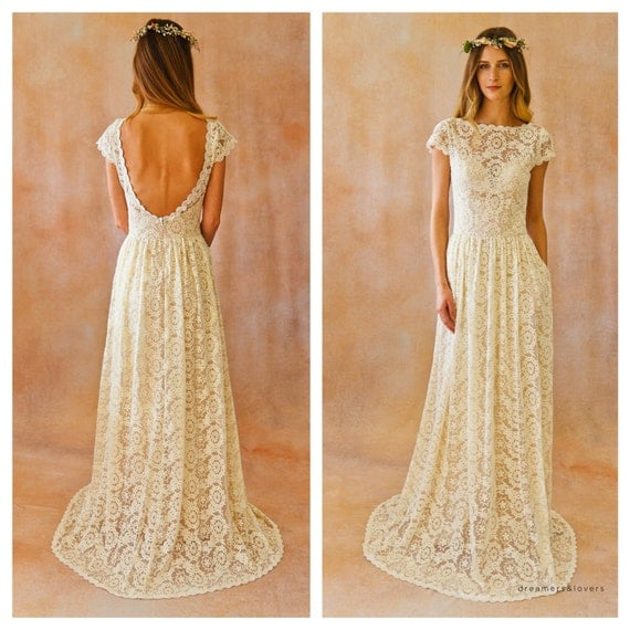 Simple Hippie Wedding Dresses WEDDING GOWN simple and
