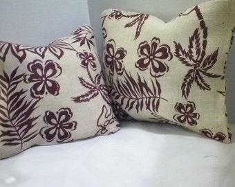 Decorative Pillow, Burlap Print, Stylish Pillows