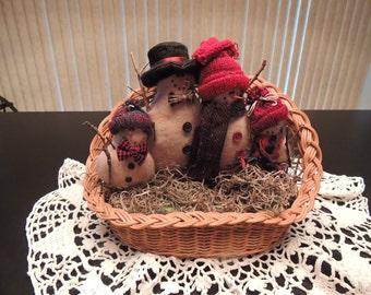 Snowman Family Basket