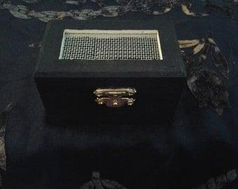 Hand Painted Mini Herb Box Black