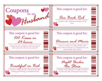 Husband coupons template coupon el dorado furniture anniversary gift printable coupon boyfriend coupon husband couponintable love coupon book but i am not sure how to download the template from yelopaper Image collections