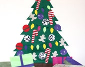Deluxe Christmas Felt Tree - kid & baby friendly. Build a Tree!