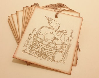 Nature's Abundance/ tags/ gift tags/ nature/ favor tags