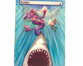 magic alter MTG altered art ponder from Magic the Gathering