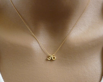 Number necklace, Personalized number necklace, Custom number necklace, Lucky number necklace, Gold number