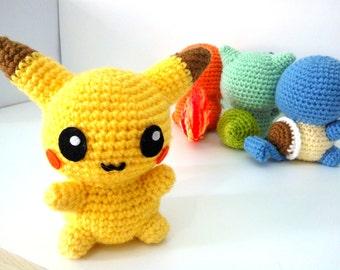 Amigurumi Pikachu Patron En Espanol : Amigurumi pikachu Etsy DE