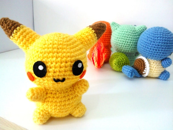 AMIGURUMI PIKACHU PDF Pattern Instant Download