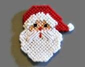 Santa Face Magnet,  Santa Claus Decor, Plastic Canvas Magners, Refrigerator Magnet, Christmas Gifts, Holiday Decor, Fridge Magnets