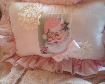 ruffled christmas pillow