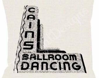 Cains Ballroom Dancing Pillow Cover