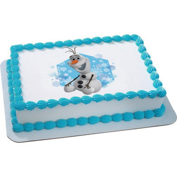 Licensed Edible Cake Images : 2015 Frozen Officially Licensed Olaf Edible Cake Topper ...