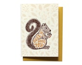 I Love You Card - Anniversary Card - Nuts About You - Valentine card - Funny Valentines Day Card - LV4
