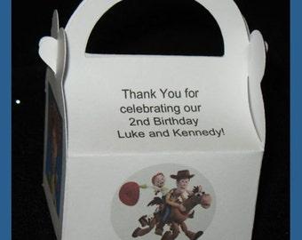 toy story party favor box,  toy story Birthday favor box, Woody favor box, Jessie favor box.