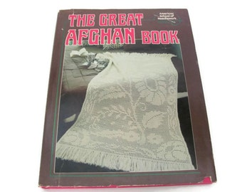 Vintage Afghan Book, 1970's The Great Afghan Book, Afghan Crochet Patterns, Knitting Patterns, Vintage Crafting Book