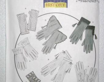 Civil War Ladies Gloves - Gentlemen Military Gloves Pattern Costume (New Pattern)