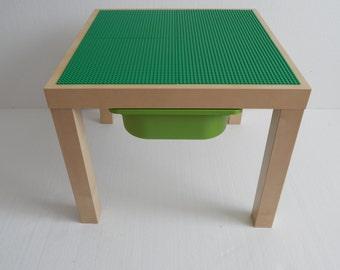 Les enfants lego table avec rangement grand 20 x 20 - Table enfant avec rangement ...